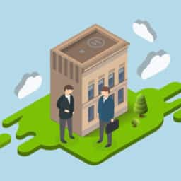 Selling or Leasing a Building Isometric image