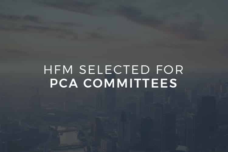 HFM Selected for PCA Committees