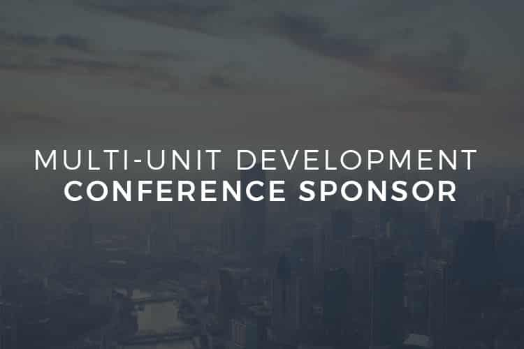 Multi Unit Development Conference Sponsor