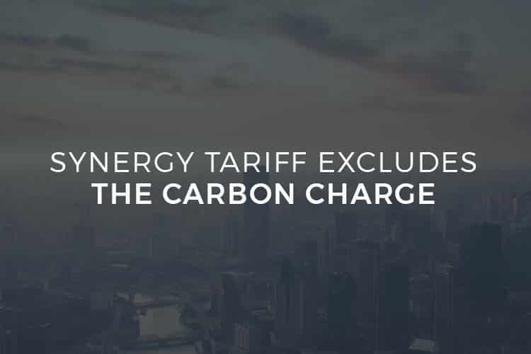 Synergy Tariff Excludes the Carbon Charge