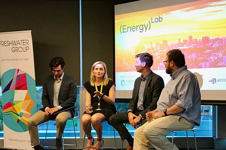 Beth Morris at the Energy Lab event in Western Australia