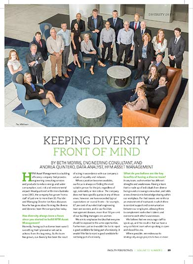 Keeping diversity in front of mind