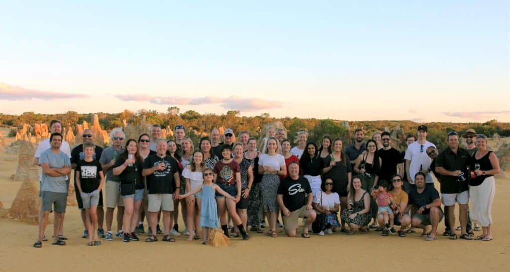 HFM Corporate retreat December 2020 at the Pinnacles - Nambung National park